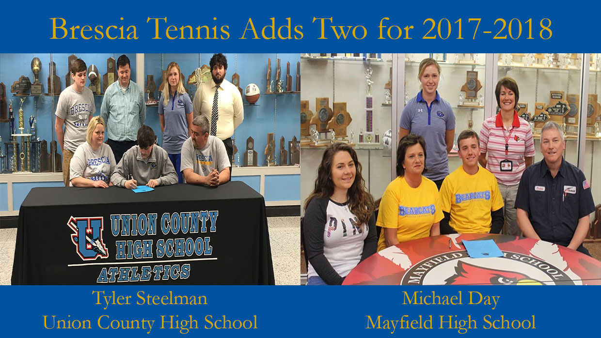 Photo for Men's Tennis Adds Tyler Steelman and Michael Day to 2017-2018 Roster
