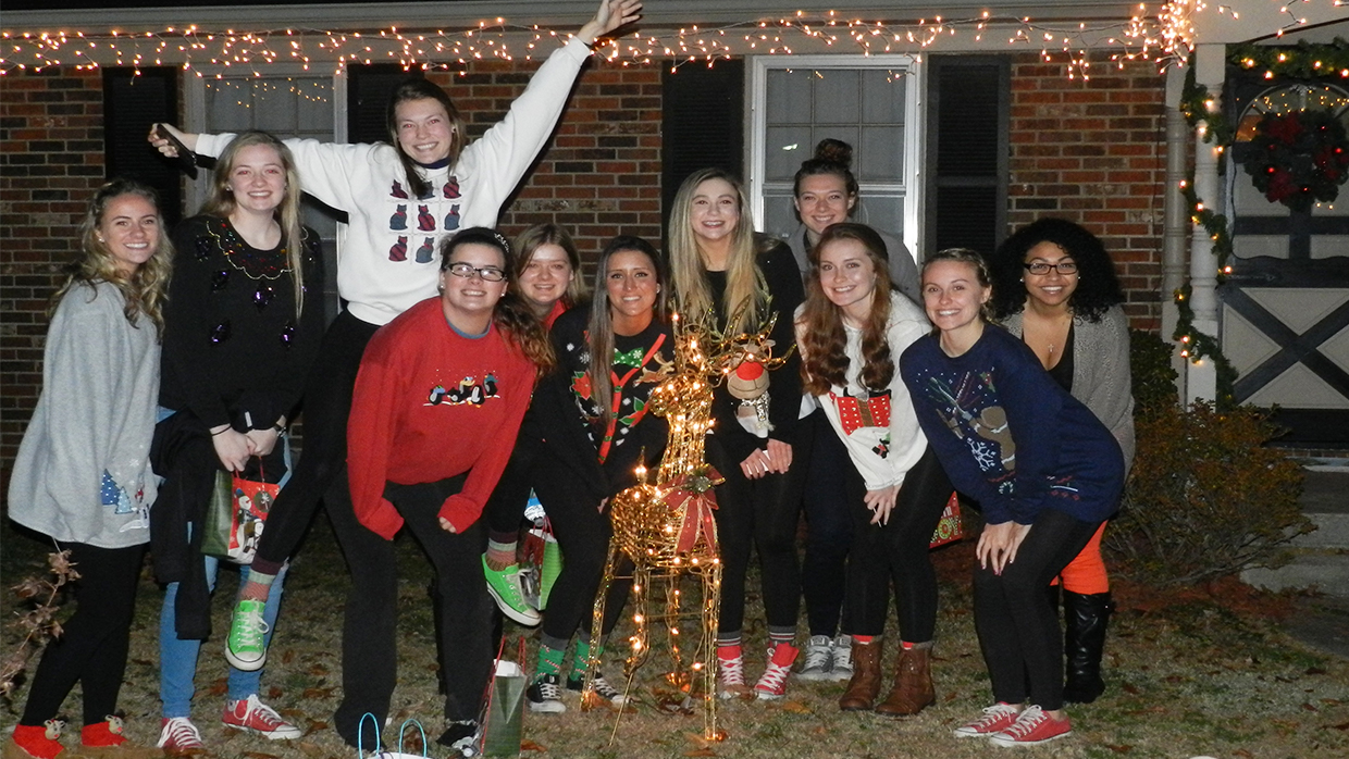 Photo for Bearcats Volleyball Celebrates Christmas Early